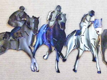 race,horse,track,starting,gate,metal,art,newmexico