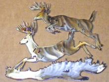 deer,buck,leaping,running,jumping,forest,wildlife,art