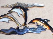 dolphin,porpoise,marine,symbol,metal,art