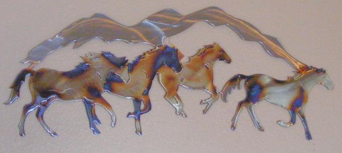 mountain,horse,band,herd,plains,running,ranch,art