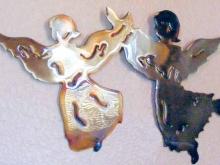 angel,spiritual,pray,metal,wall,art
