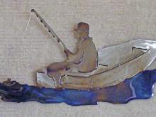 fish,fisherman,skiff,freshwater,boat,art