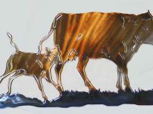 cow,calf,cattle,bovine,ranch,farm,hereford,polled,art