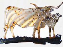 cow,calf,longhorn,corriente,spotted,cattle,bovine,ranch,texas,art