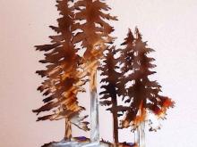 fir,tree,mountain,pine,metal,art