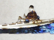 kayak,canoe,fish,coastal,river,bay,marine,art