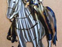 western,cowboy,ranch,horse,blueheeler,metal,art