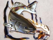 Redfish,bay,gulf,fish,crab,predator,marine,art