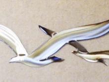 Seagull,coast,marine,bird,metal,wall,art