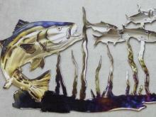 striper,menhaden,bay,fishing,metal,art