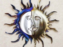 celestial,sun,moon,heavens,faces,rays,nature,art