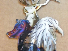 wildlife,bald,eagle,wolf,bull,elk,mountain,wilderness,art